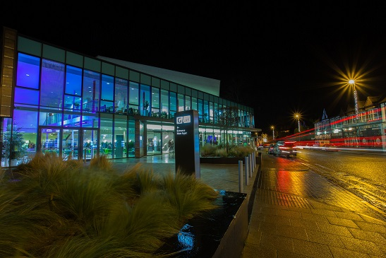 G Live exterior at night
